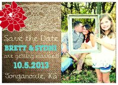 Rustic Save the Date Postcards with Color by AestheticJourneys, $20.00