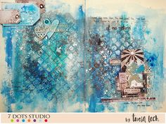 Art-journal spread {7 Dots Studio} – Tusia Lech