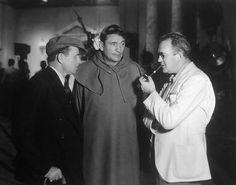 Tay Garnett, Victor McLaglen and Ford on the set of Professional Soldier, (1935, dir. Tay Garnett).