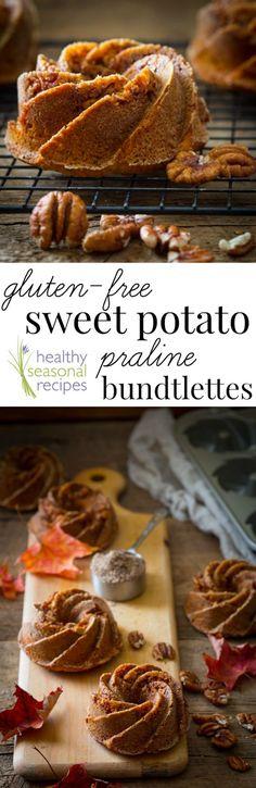 gluten-free sweet potato praline bundtlettes - Healthy Seasonal Recipes