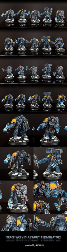 40k - Space Wolves Assault Terminators by Delius
