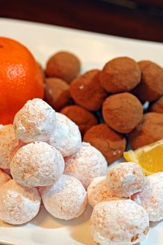 Citrus Creamsicle Truffles Easy to make with White Chocolate. The wonderful tangelo and lemon flavors are enhanced with the powdered sugar and for the real chocoholic, the cocoa rolled ones hit the spot.