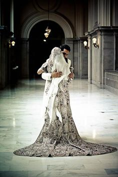 This makes me reconsider my decision of getting a traditional white dress for my wedding. This is beyond gorgeous. I'm in love.