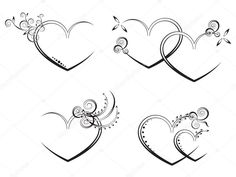 Find Vector Flora Heart stock images in HD and millions of other royalty-free stock photos, illustrations and vectors in the Shutterstock collection. Diy Wedding Deco, Border Tattoo, Two Hearts Tattoo, Skull Hand Tattoo, I Love You Drawings, Banner Drawing, Herz Tattoo, Graffiti Drawing, Best Friend Tattoos