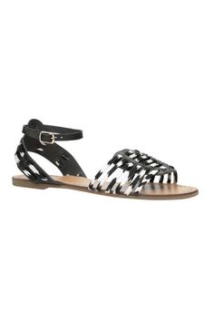 Aldo Bilik in Black and White, $50; aldoshoes.com   - ELLE.com