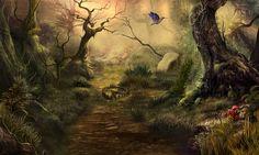#art #gameart #artwork #gamedevelopmentart #madheadgames #wild #forest #dark #passage #tree #creepy