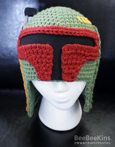 Boba Fett Crochet Hat- @Cassie Vanover this would make the perfect present for Ben!!  do it to it!