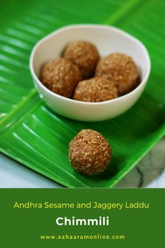 These are Sesame and Jaggery Laddus (Til ke Laddu) made in Andhra Pradesh and Telangana. These are a must for Nagula Chavithi, our equivalent of Nag Panchami, which is celebrated on the fourth day after Diwali Amavasya. #Recipe #Vegetarian #Vegan #Laddu Andhra Recipes, Vegetarian Recipes, Cooking Recipes, 2 Ingredients, Food Festival, Diwali, Festive, Favorite Recipes, Vegan