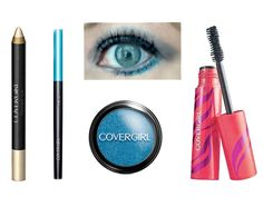 COVERGIRL Flamed Out Eye Look. Loving a strong blue for summer!