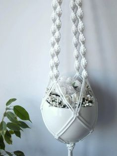 Modern Macrame plant hanger-indoor plant by MadeByMiculinko