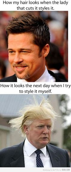 Truer than ever with my new cut hairs. I can't get it to straighten as perfectly as the lady did...