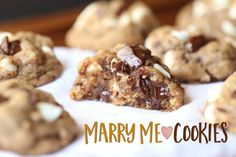 """I have seen these cookies around the internet for years. I've always wanted to make them, but for some reason just have never gotten around to it! I mean, with a name like """"Marry Me Cookies"""" you figure..."""