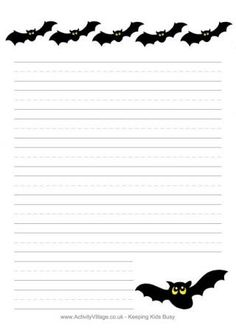 Free, Printable Halloween Themed Worksheets for Kids: Halloween Writing Prompts and Story Starters from The Holiday Zone Halloween Worksheets, Halloween Activities, Holiday Activities, Halloween Art, Holidays Halloween, Halloween Themes, Halloween Stories, Halloween Writing Prompts, Lined Writing Paper