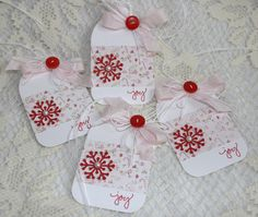 snowflake punch and joy stamp