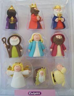 Claydough Nativity for cakes, etc...