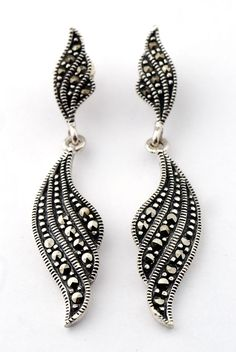 Earing jewelry Sterling Silver 925 Marcasite Jewelry wholesaler From Thailand    http://www.yanakaelitesilver.com