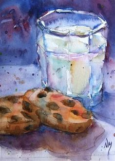 """round two"" - watercolour by Nora MacPhail - See me paint it on YouTube. http://www.youtube.com/watch?v=r_uMSkZkFxk"