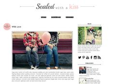 Premade Blogger Template - SEALED WITH A KISS - Graphic Design - Blog Template