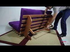 Sofa cama futon modelo Indiano casal Kotton Futons - YouTube