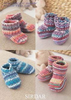Booties and Slippers in Snuggly Baby Crofter DK - 1483