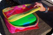 Yumbox fits into a standard thermal lunch bag. Stephen Joseph (pictured) Let your child be in control over the bag. You can be in control over what goes inside it.