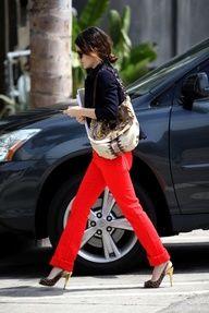Rachel Bilson in red jeans