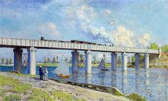 Railway Bridge at Argenteuil - Claude Monet