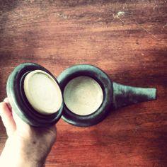 Stoneware ceramic teapot inside - Lewis Ryan