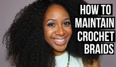 How To Maintain Crochet Braids using Marley hair (Noir Janet collection afro Marley braid). #newobsession