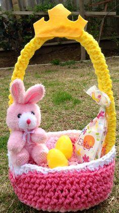 Aurora Easter Basket sold on https://www.facebook.com/CrochetingSweetie