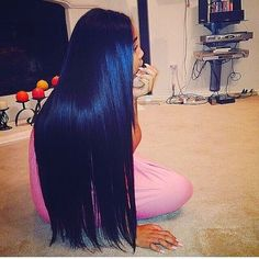 cabelo comprido preto azulado - Pesquisa Google