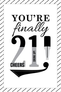 Happy 21st Birthday Card
