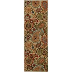 Rubber Back Ivory Paisley Floral Non-Slip Long Runner Rug (2'8 x 9'10) - Overstock™ Shopping - Great Deals on Runner Rugs