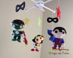 superheroes baby mobiles | Post image for Nursery Super Heroes Mobile