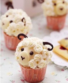 Cupcakes fofíssimos de ovelhinha! Pic. Cutest Food  #kikidsparty
