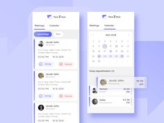 Meeting Schedule designed by Sandeep velayudhan 🍺. Connect with them on Dribbble; Ui Design Mobile, Ios App Design, Interface Design, Event App, Schedule Design, Calendar App, App Design Inspiration, Japan Design, Applications