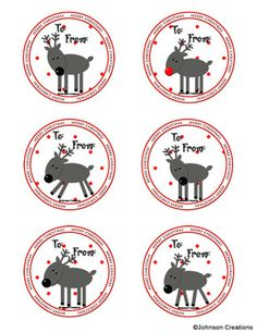 Reindeer Gift Tags from Johnson Creations on TeachersNotebook.com (2 pages)  - Use these cute Reindeer gift tags for school or at home. Merry Christmas!