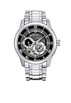 Bulova Silver Automatic Watch #Belk #Men #Watch