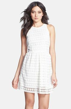 BB Dakota 'Andree' Crochet Fit & Flare Dress available at #Nordstrom