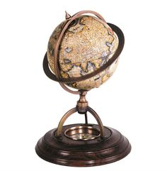 Globo terrestre, mappamondo terrestre con basamento in legno dotato di bussola funzionante e meridiano in bronzo inciso. Solo in nostro showroom! #SalesByCaroti #Saldi PREZZO: € 111 (Sconto 40% - Prezzo originale € 185) Cod. prodotto: A019