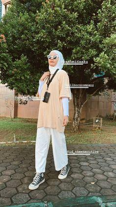 Modest Outfits Muslim, Modest Fashion Hijab, Modern Hijab Fashion, Street Hijab Fashion, Casual Hijab Outfit, Hijab Fashion Inspiration, Muslim Fashion, Casual Outfits, Egirl Fashion
