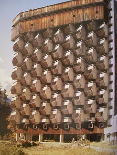 sovietbuildings: Russia, Dombai, Rehabilitation center, 1985