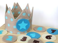 *Geburtstagskrone mit 10 Buttons*