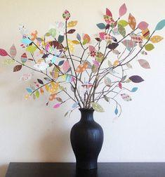 DIY Spring scrap paper tree centerpiece // Színes papír fa - tavaszi dekoráció faágakból  // Mindy - craft tutorial collection // #crafts #DIY #craftTutorial #tutorial #PaperCrafts #KreatívÖtletekPapírból