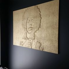 Jimi Henrix´s portrait pressed on Konto acoustic panel. Gold paint for memory of the golden ages of rock ´n roll. Acoustic Panels, 50 Years Old, Gold Paint, Golden Age, Rock N Roll, Jimin, Organic, Portrait, Instagram Posts