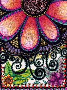 Colorful doodle WOW! Now that's a lot of dots. But dots are so cool.