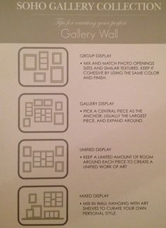 Photo frames on walls