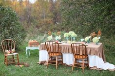 Love the setting for this vintage/rustic wedding in Michigan.  Decor by Panache, photography by Samantha Elizabeth Photography.  www.panacheEDB.com