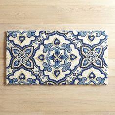 Cloud Step® Mediterranean Tile Memory Foam Rug