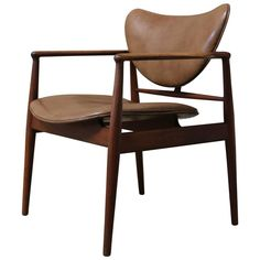 Finn Juhl Armchair, Model 48 | From a unique collection of antique and modern chairs at https://www.1stdibs.com/furniture/seating/chairs/